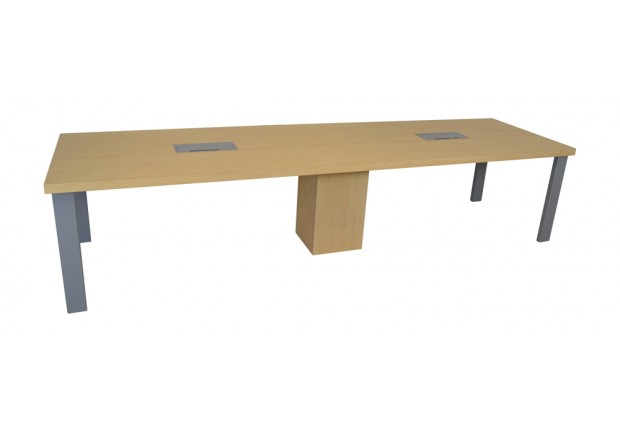 Custom Rectangular Conference Table Square Metal Legs PCSMS - Conference table power and data modules