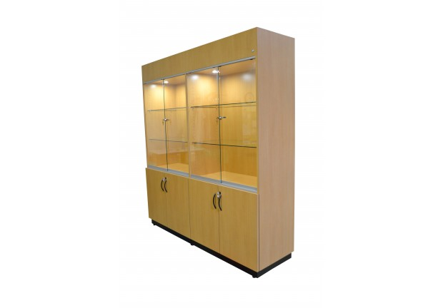 Glass Front Lighted Display Cabinet