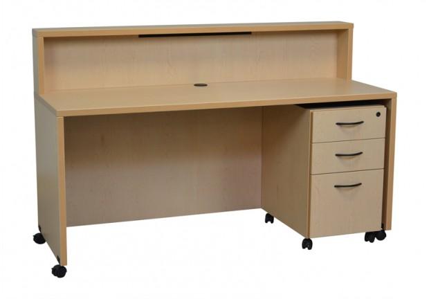 Mobile rectangular vizion reception desk action laminates for Reception mobile