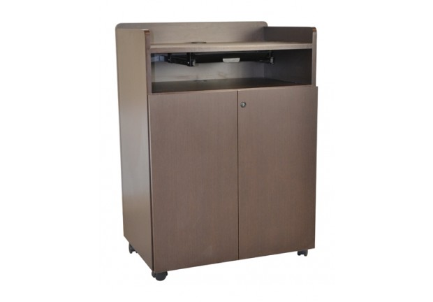 Mobile Computer Lectern With Storage Action Laminates