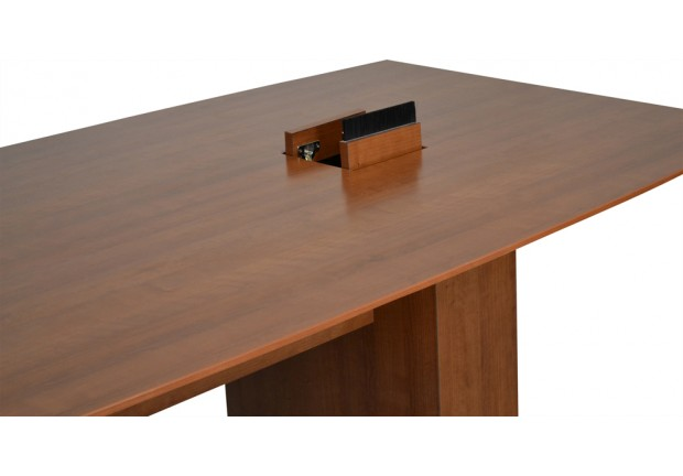Boat Shaped Conference Table With Hinged ...